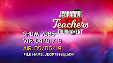 [Jeopardy! 2019 Teachers Tournament - Title Slate]