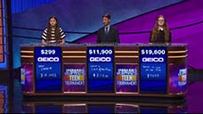 [Jeopardy! 2018 Teen Tournament - Image of the final results]