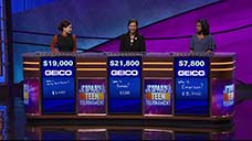 [Jeopardy! 2018 Teen Tournament - Image of the day one final results]